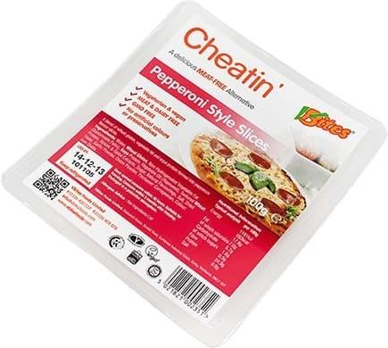 VBites CHEATIN Pepperoni Style Slices, 100g
