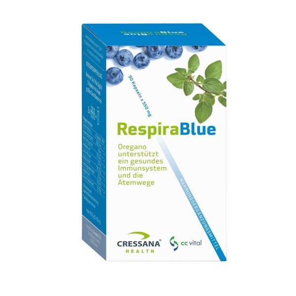 Cressana Respira Blue, BIO, 49,5g (90 Kapseln)
