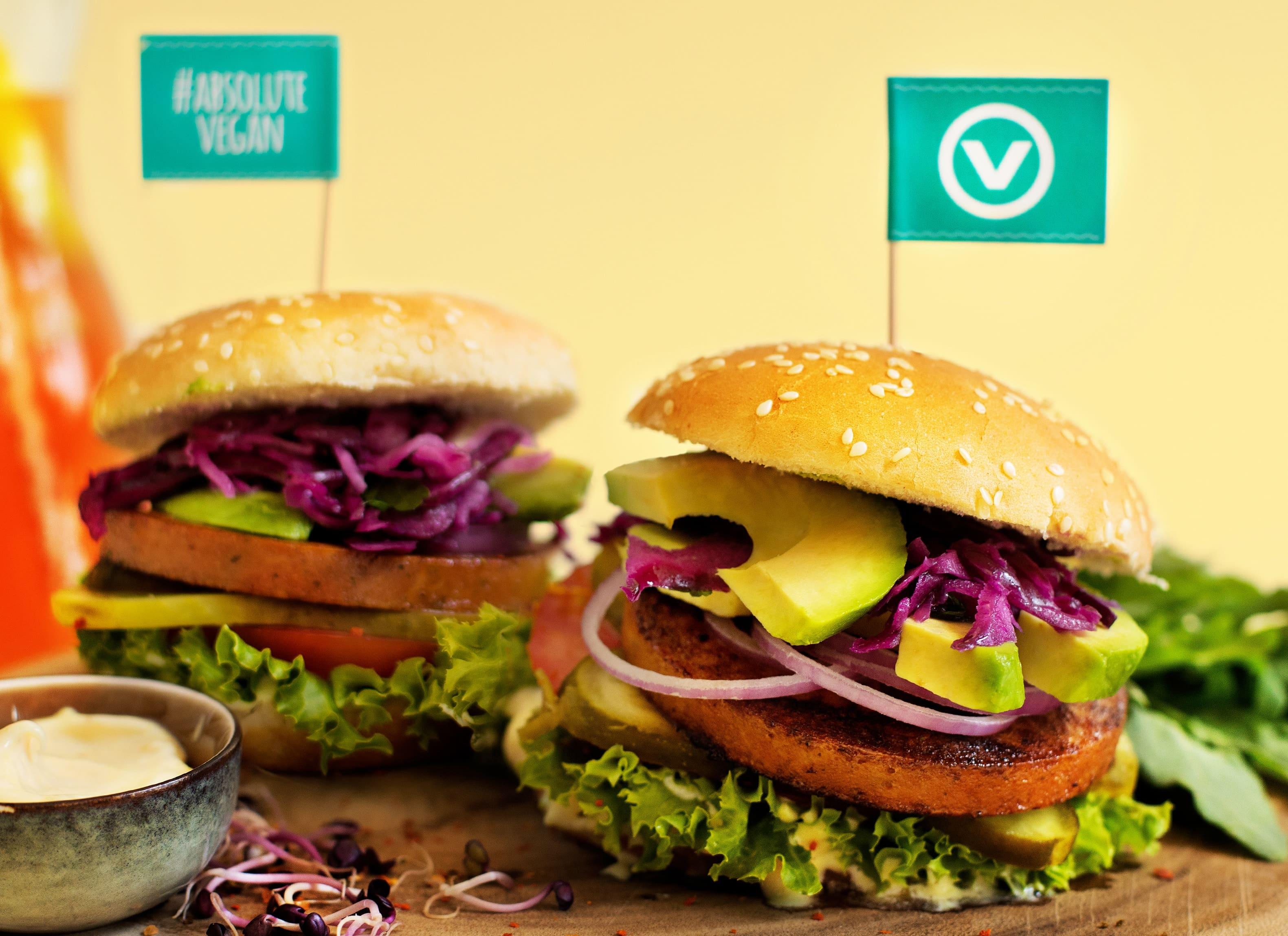 Veganer Deluxe Burger