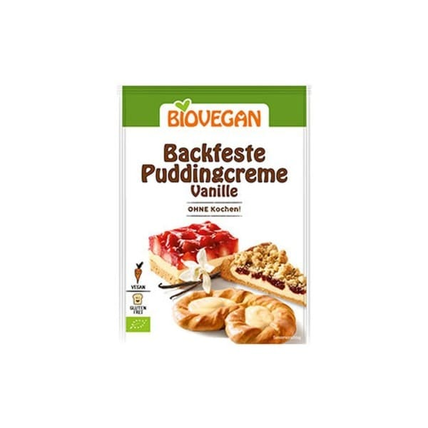 Biovegan Bio BACKFESTE PUDDINGCREME Vanille, 50g