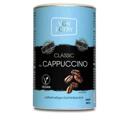 VGN FCTRY INSTANT CAPPUCCINO Classic weniger süß koffeinfrei, 280g