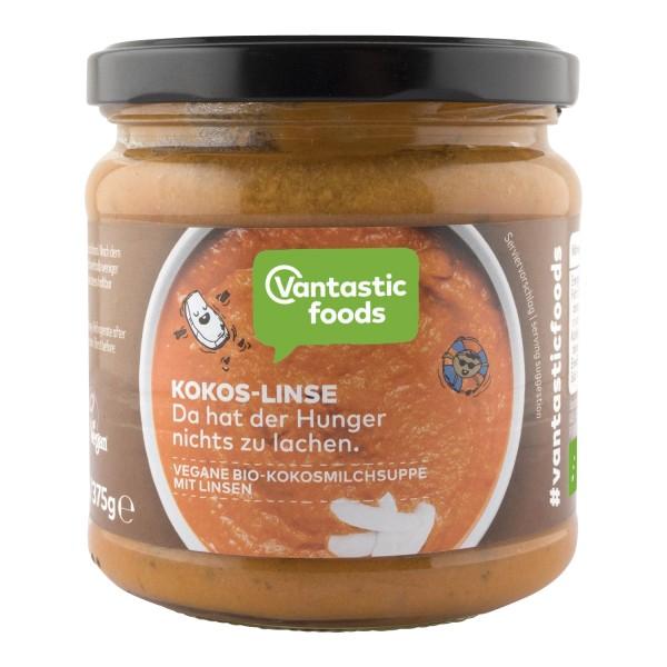 Vantastic foods BIO SUPPE Kokos-Linse, BIO, 350ml - neue Rezeptur