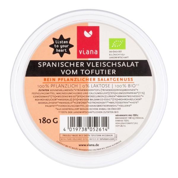 Viana SPANISCHER VLEISCHSALAT vom Tofutier, BIO, 180g