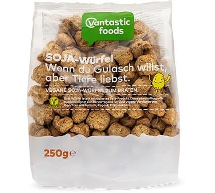 Vantastic foods SOJA WÜRFEL Fleischersatz Sojafleisch, 250g