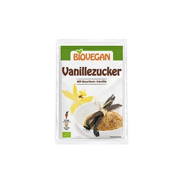 Biovegan VANILLEZUCKER mit Bourbon-Vanille, BIO, 4x8g