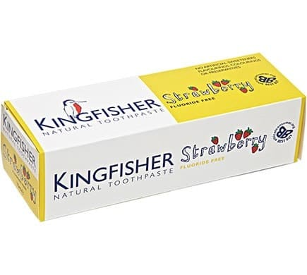 Kingfisher ZAHNCREME Erdbeere für Kinder ohne Fluorid, 75ml