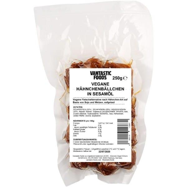 Vantastic foods VEGANE HÄHNCHENBÄLLCHEN in Sesamöl, 250g