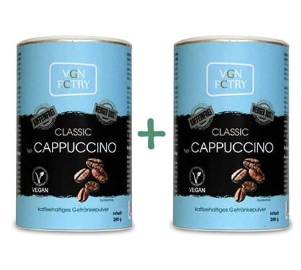 VGN FCTRY INSTANT CAPPUCCINO Classic weniger süß koffeinfrei Sparset, 2x280g