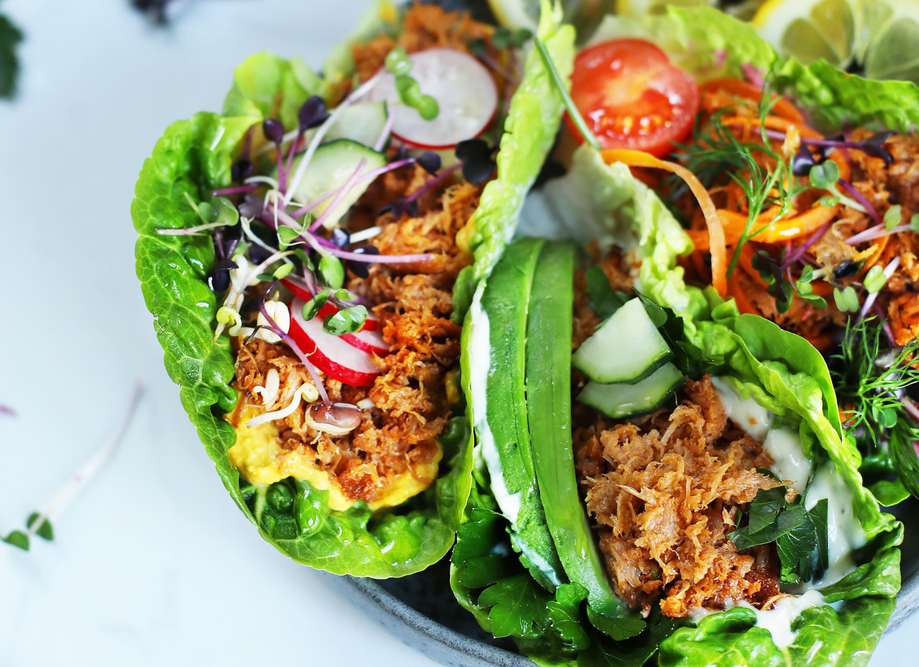 Vegane Tuna-Salat-Schiffchen