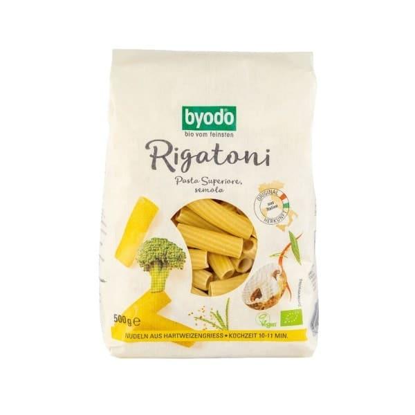 Byodo RIGATONI Pasta Superiore semola, BIO, 500g
