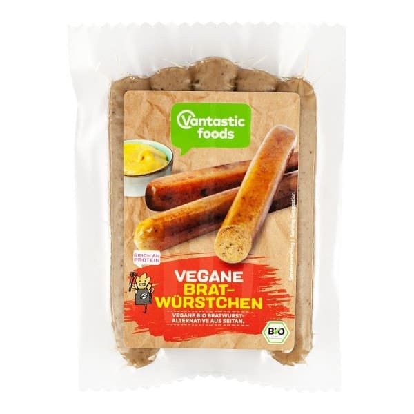 Vantastic foods VEGANE BRATWÜRSTCHEN, BIO, 200g
