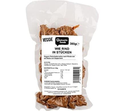 Vantastic foods VEGGIE wie Rind in Stücken, 300g