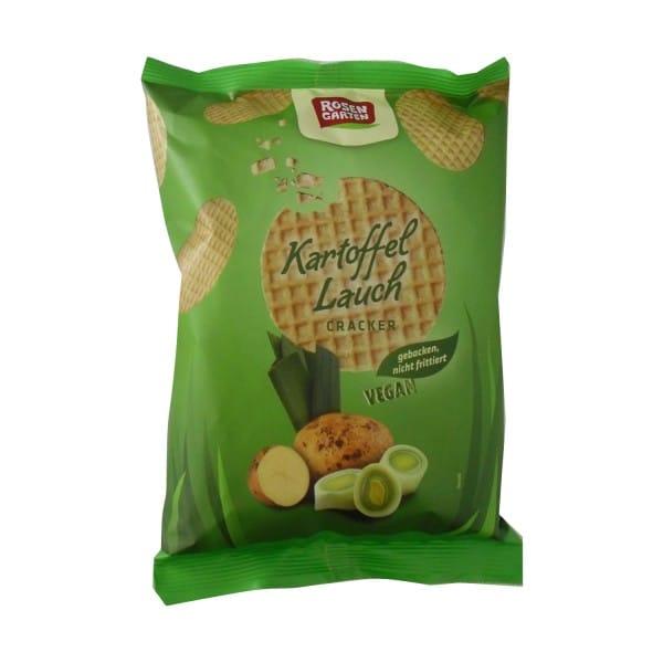 Rosengarten CRACKER Kartoffel-Lauch, BIO, 60g
