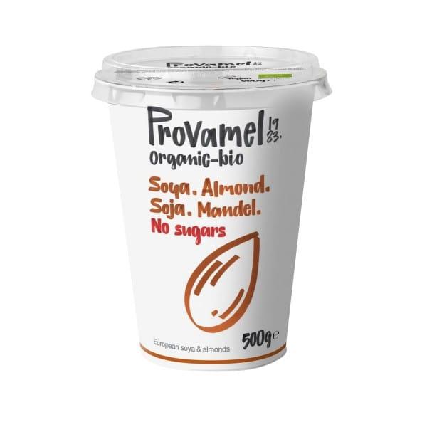 Provamel JOGHURT ALTERNATIVE SOJA-MANDEL ohne Zucker BIO, 500g