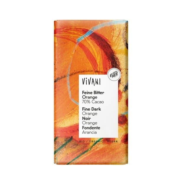Vivani FEINE BITTER ORANGE Schokolade, BIO, 100g