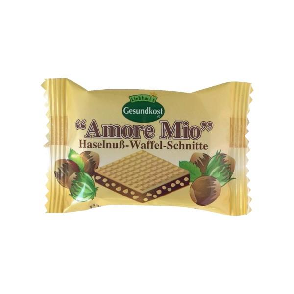 Liebharts Gesundkost AMORE MIO Haselnuss-Waffel-Schnitte, 19g