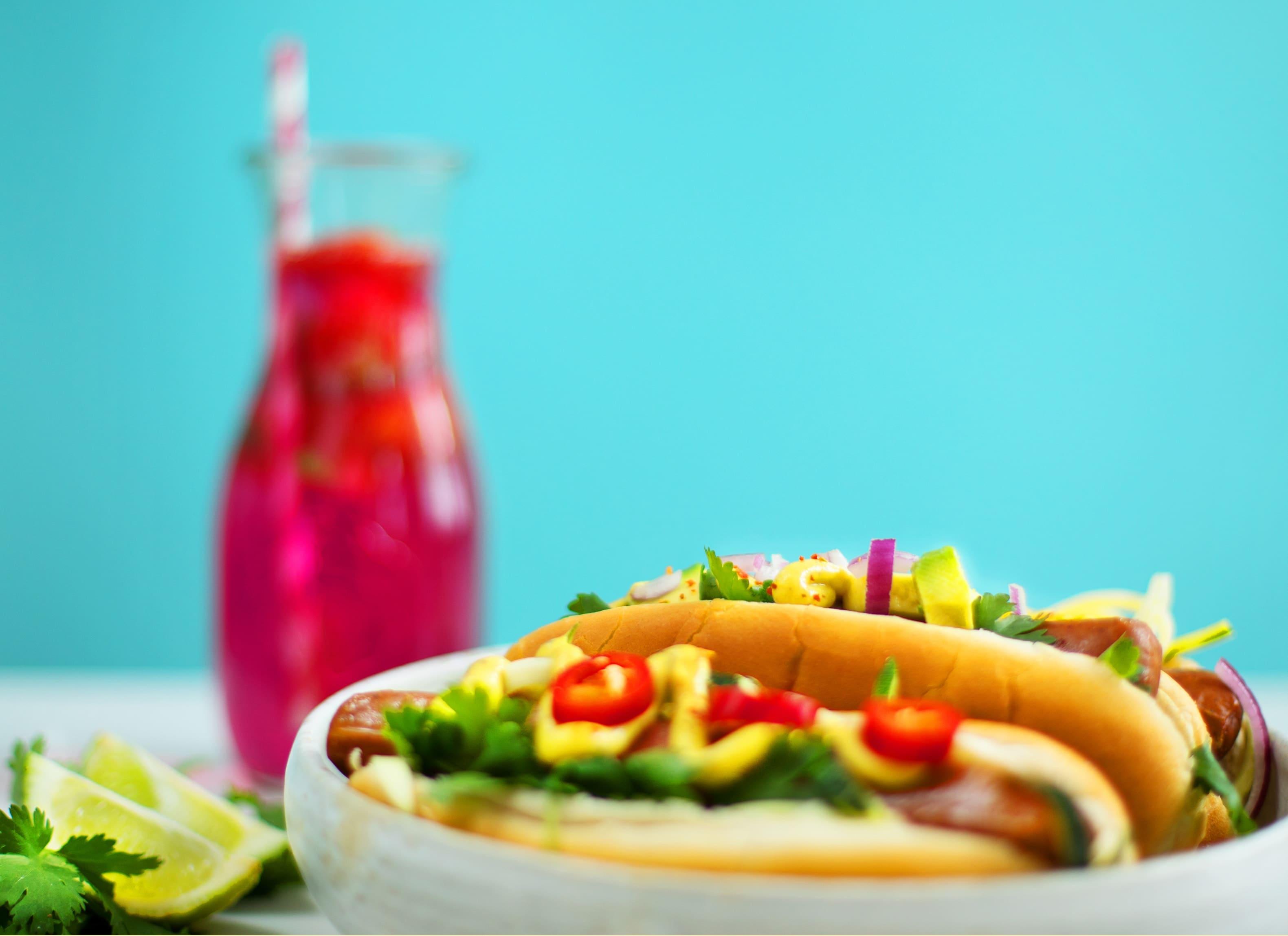 Veganer Hotdog